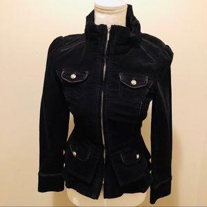 White House Black Market Black Corderoy Jacket